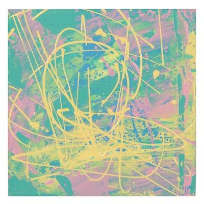 Mary Bray Non-Objective Abstract Acrylic Painting, 2021