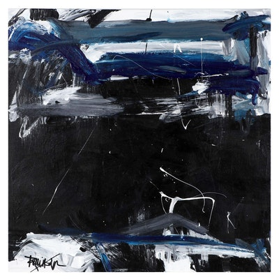 "Robbie Kemper Abstract Acrylic Painting ""Ultramarine,"" Circa 2021"
