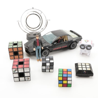 Knight Rider Car and Action Figures with Other Toys, Late 20th Century