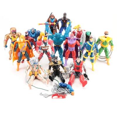 "10"" Toy Biz Marvel Action Figures Including ""X-Men"" and ""Spider-Man"", 1990s"
