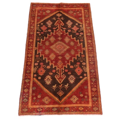 4'1 x 7'8 Hand-Knotted Persian Kharaghan Area Rug