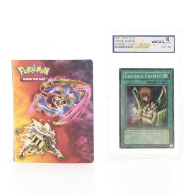 "2003 Yu-Gi-Oh! ""Graceful Charity"" Holofoil WCG Graded Card with Pokémon Cards"