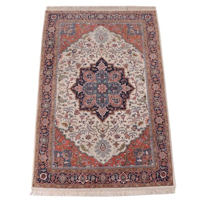 5'10 x 9'4 Hand-Knotted Indo-Persian Heriz Area Rug