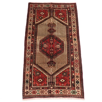 3'9 x 7'4 Hand-Knotted Persian Sarab Area Rug