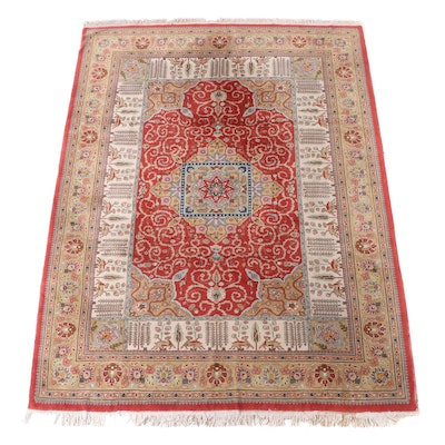 8'9 x 12'3 Hand-Knotted Persian Kermanshah Room Sized Rug