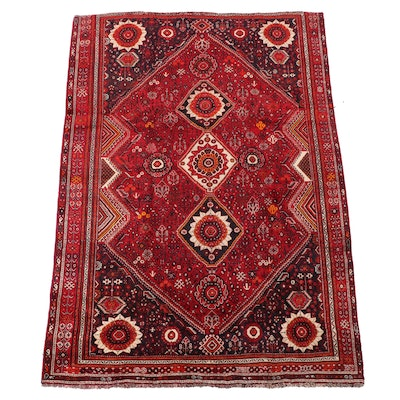 7' x 10'1 Hand-Knotted Persian Qashqai Area Rug