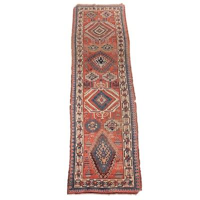 3'1 x 12' Hand-Knotted Caucasian Kazak Carpet Runner