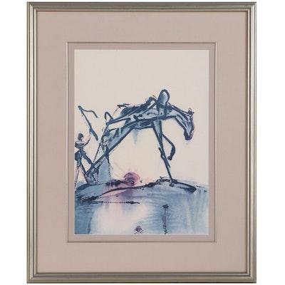 "Offset Lithograph After Salvador Dalí ""Work Horse"""