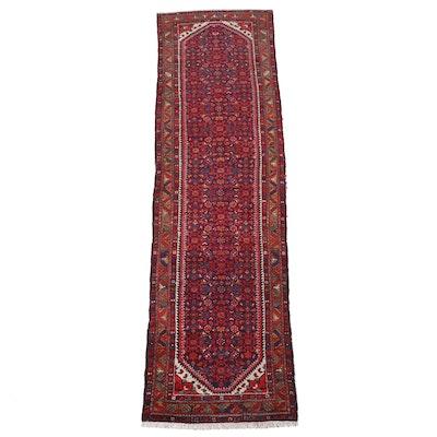 3'6 x 13' Hand-Knotted Persian Hamadan Long Rug