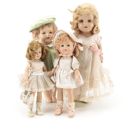 """Ideal """"Shirley Temple"""", Vogue, and Effanbee Dolls"""