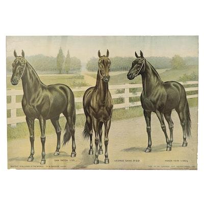 "M.W. Savage Art Department Halftone ""Fastest Stallions in the World"""