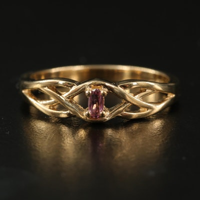 Sterling Tourmaline Openwork Ring