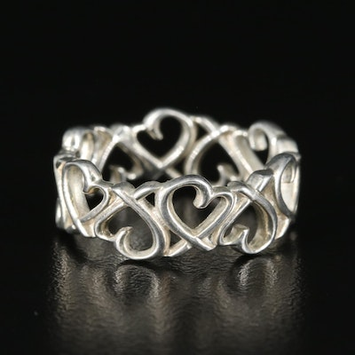"""Paloma Picasso for Tiffany & Co. """"Loving Hearts"""" Sterling Band"""