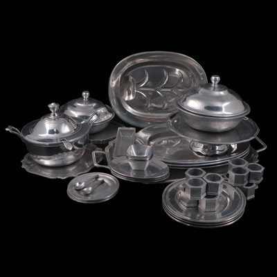 Wilton Pewter Serveware and Other Table Accessories, 1970s