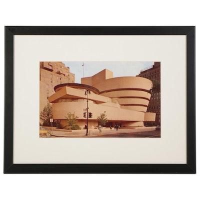 Offset Lithograph of Guggenheim Museum, Circa 2000