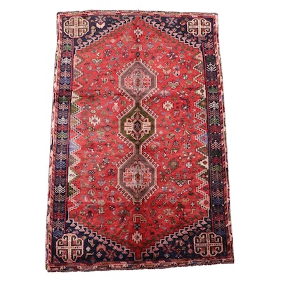 5'1 x 7'11 Hand-Knotted Persian Qashqai Area Rug