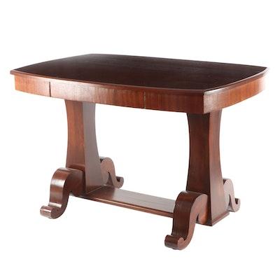 American Empire Style Mahogany Library Table, Early 20th Century