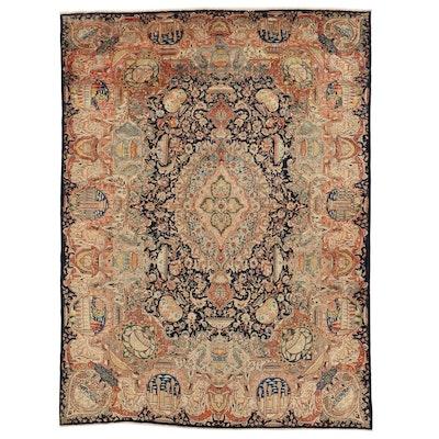 "9'8 x 12'11 Hand-Knotted Persian Kashmar ""Zirhaki"" Room Sized Rug"
