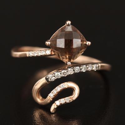 Le Vian 14K Smoky Quartz and Diamond Ring