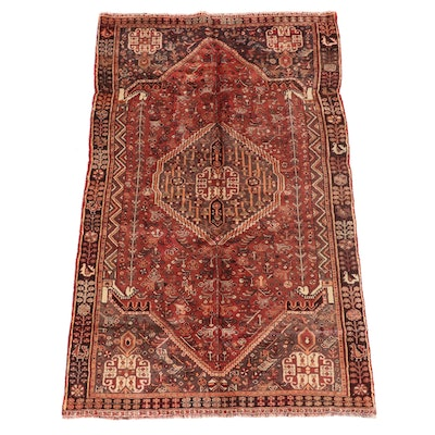 4'7 x 7'7 Hand-Knotted Persian Qashqai Area Rug