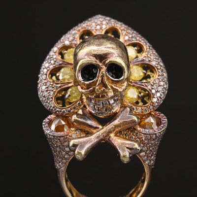 Bochic 18K 4.73 CTW Diamond Crossbones Ring