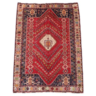 5'9 x 8'2 Hand-Knotted Persian Qashqai Area Rug