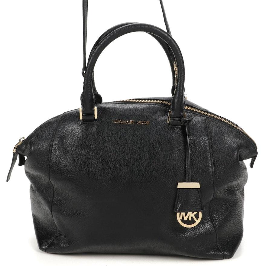 Michael Kors Pebbled Black Leather Handbag