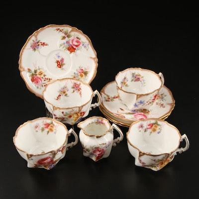 """Hammersley & Co. """"Howard Sprays"""" Scalloped Bone China Tea Set"""