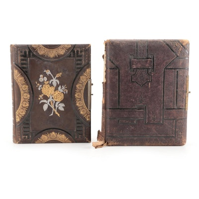Embossed Leather Portrait Photo Albums, Late 19th Century
