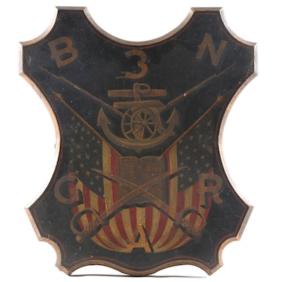 Grand Army of the Republic (GAR) Fraternal Post Wall Plaque