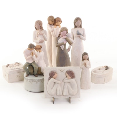 """Demdaco Willow Tree """"Around You"""" Musical Figurine and More Resin Figurines"""