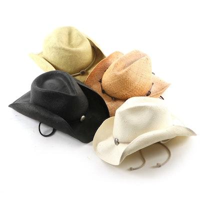 Scala Woven Straw Western Style Hats