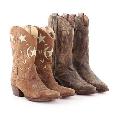 Dan Post Tan El Paso Western Boots and Mexican Handmade Boots