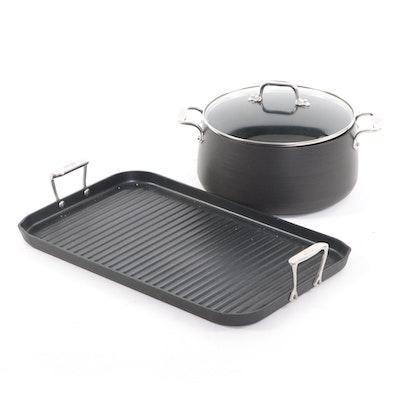 All-Clad NS1 Nonstick Double-Burner Grill and HA1 8-Quart Stock Pot
