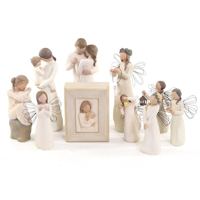 """Demdaco Willow Tree """"Promise"""" and Other Resin Figurines"""