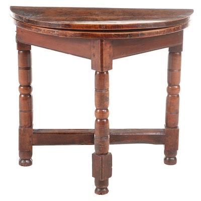 Charles II Oak Gate-Leg Credence Table, Late 17th Century