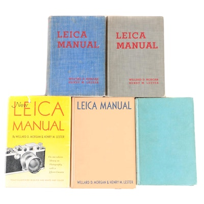 """Signed First Edition """"Leica Manual"""" by Willard D. Morgan and More"""