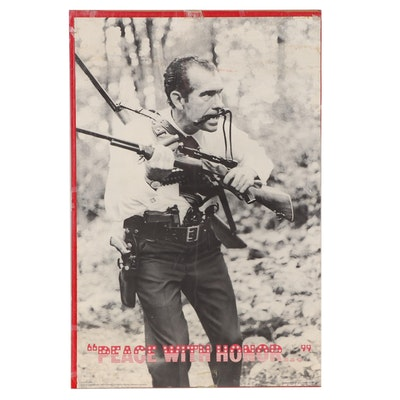 """Offset Lithograph Poster After Mark Sennett """"Peace with Honor,"""" 1972"""