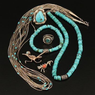 Western Jewelry Collection with Heshi and Liquid Silver Necklaces