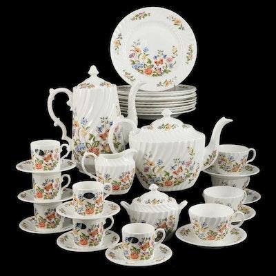 "Aynsley ""Cottage Garden"" Bone China Tea and Coffee Set, 1985–2001"