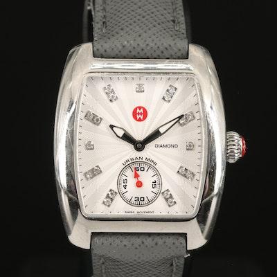 Michele Diamond Urban Mini Stainless Steel Wristwatch
