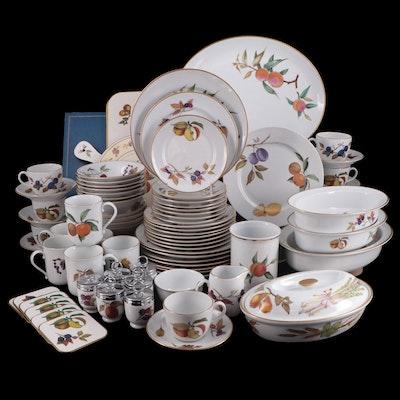 "Royal Worchester ""Evesham Gold"" Porcelain Dinnerware and Serveware"