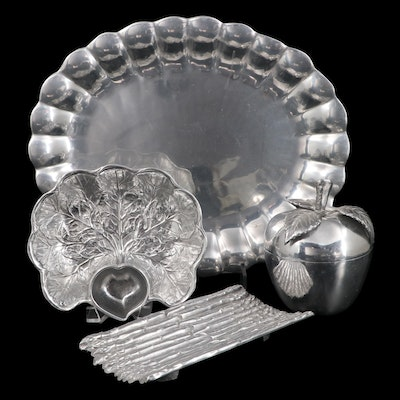 """Wilton Armetale Entertaining Serveware and Bowls Including """"Eddy"""" Oval Tray"""