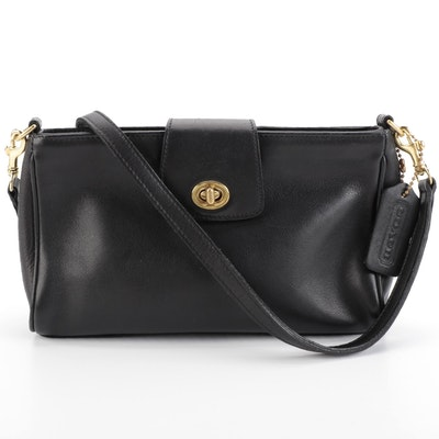 Coach Crossbody Bag in Black Leather