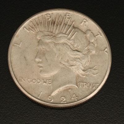 Key Date 1924-S Peace Silver Dollar