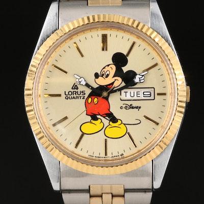 Mickey Mouse Lorus Quartz Wristwatch