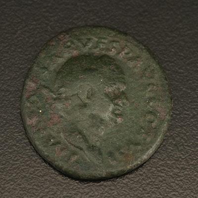 Antique Roman Bronze Coin of Vespasian, 69–79 AD