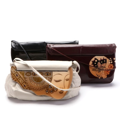 Patricia Smith Designs Moon Bags with Handmade Embellished Flap Closures