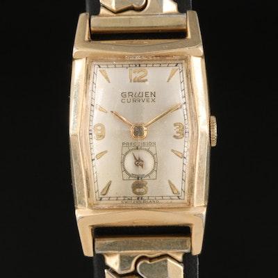 Vintage Gruen Curvex Precision Gold Filled Wristwatch