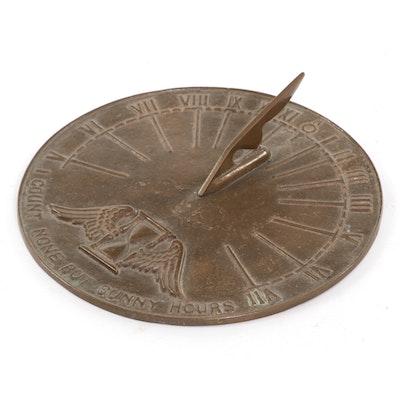 Bronze Sundial, Vintage